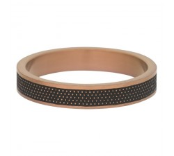 Bague Row dots IXXXI 4 mm - Marron mat