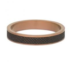 Bague Row dots IXXXI 4 mm - Marron mat