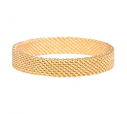 Bague Mesh IXXXI 4 mm - Or jaune