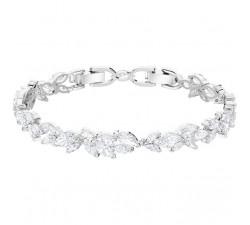 Bracelet Louison, blanc, métal rhodié SWAROVSKI 5419244