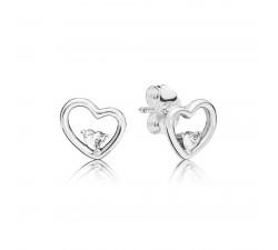 Boucles d'oreilles Cœurs Stylisés en Argent 925/1000e PANDORA 297813CZ