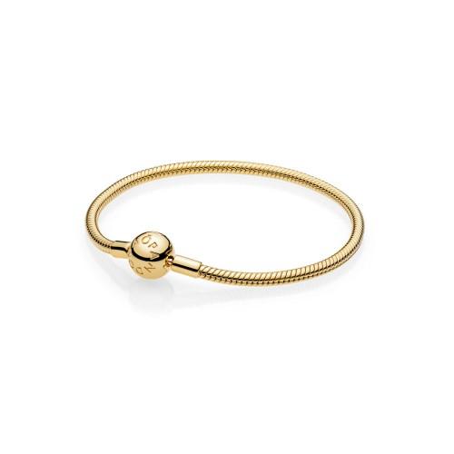 Bracelet Moments Lisse en PANDORA Shine** avec Fermoir 567107