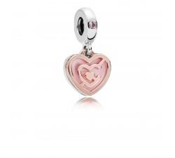 Charm pendant Labyrinthe de l'Amour en Argent 925/1000 et Pandora rose 787801NBP