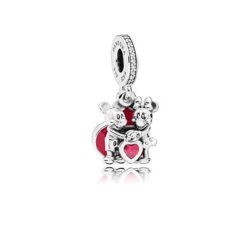 Charm pendentif L'Amour de Minnie et Mickey, Argent 925/1000 Pandora 797769CZR