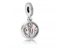 Charm pendentif Journée de la Femme, Argent 925/1000 Pandora 797825CZ