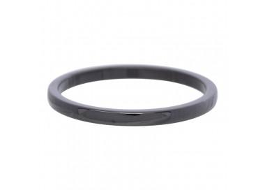 Bague Céramique IXXXI 2 mm - Noir