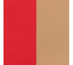 Cuir pour pendentif demi-lune collier Les Georgettes - Rouge soft / Beige 703215399CW000