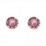 Boucles d'oreilles argent 925/1000 et Swarovski elements Indicolite PU-RON6-ANTP