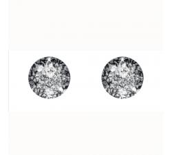 Boucles d'oreilles argent 925/1000 et Swarovski elements Indicolite PU-RON6-BLPA