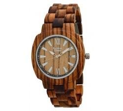 Montre bois de santal brown et d'érable mixte GREENTIME ZW048A