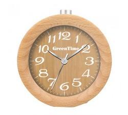 Réveil en bois de hêtre GREENTIME ZWC124B
