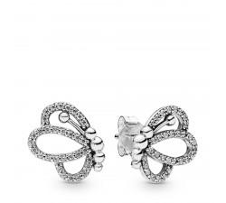 Boucles d'oreilles Silhouettes de Papillon ajourés en Argent 925/1000e PANDORA 297912CZ