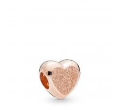 Charm Cœur Grain de Sable en Pandora Rose 787881