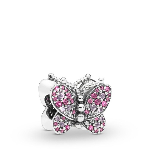 Charm Papillon Rose en Argent 925/1000 Pandora 797882NCCMX