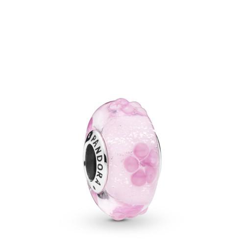 Charm Murano Floral Rose en Argent 925/1000 Pandora 797901