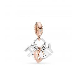 Charm Famille Parfaite en Pandora Rose et Argent 925/1000 Pandora 787785CZ