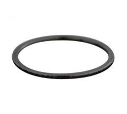 Bague Sablée IXXXI 1 mm - Noir