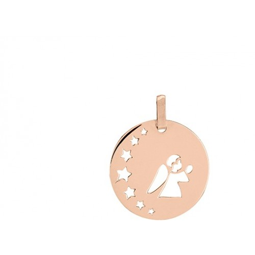 Médaille ange or rose 750/1000 by Stauffer