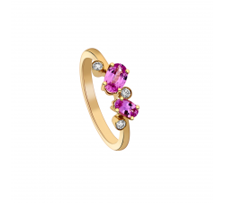 Bague GARDEN PARTY Rendez-Vous or jaune, saphir rose et diamants