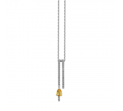Collier GARDEN PARTY Symphonie or blanc, saphir jaune et diamants