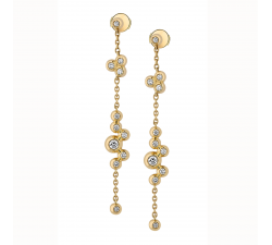 Boucles d'oreilles GARDEN PARTY Ivresse or jaune et diamants