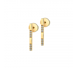 Boucles d'oreilles GARDEN PARTY Eclat or jaune et diamants