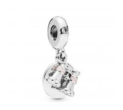Charm pendant Jumelles en Argent 925/1000 Pandora 798062CZ