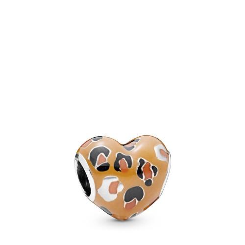 Charm-Coeur Léopard en Argent 925/1000 Pandora 798065ENMX