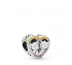 Charm Disney Cœur Simba et Nala en Argent 925/1000 Pandora 798044NPRMX