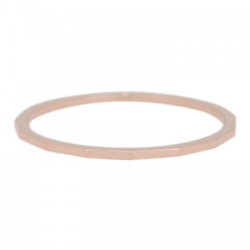 Bague Angulaire IXXXI 1 mm - Or rose
