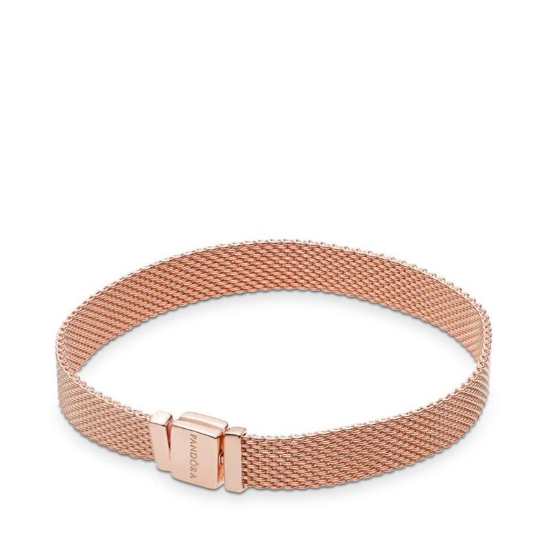bracelet femme or rose pandora