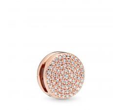 Élégance Éblouissante, charm clip Reflexions Rose PANDORA Rose, métal doré à l'Or Rose fin 585/1000ᵉ - 787583CZ