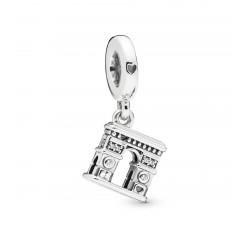 Charm pendant Arc de Triomphe en Argent 925/1000 Pandora 798127CZ