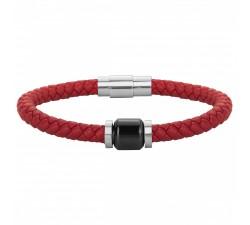 Bracelet acier, cuir et céramique PHEBUS FOR HIM 35-0906