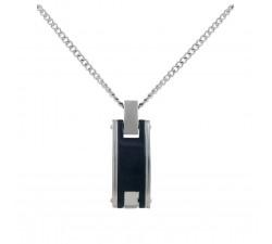 Collier acier et céramique PHEBUS FOR HIM 72-0012-N
