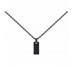 Collier acier et carbone PHEBUS FOR HIM 75-0111