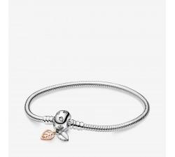 Bracelet Maille Serpent et Feuilles Pandora Moments en argent 925/1000 Pandora - 588333CZ