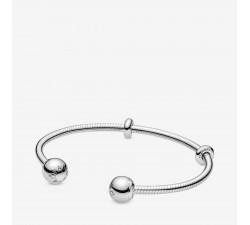 Bracelet Jonc Ouvert façon Maille Serpent Pandora Moments en Argent 925/1000 PANDORA 598291