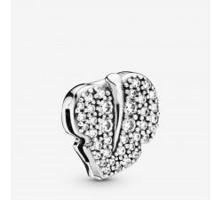 Feuille Scintillante, charm clip Réflexions en argent 925/1000° Pandora - 798293CZ