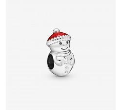 Charm Bonhomme de Neige et Bonnet du Père Noël en Argent 925/1000 PANDORA 798478C01