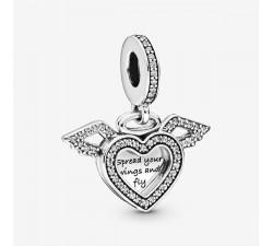 Charm Pendant Cœur et Ailes d'Ange en Argent 925/1000 PANDORA 798485C01