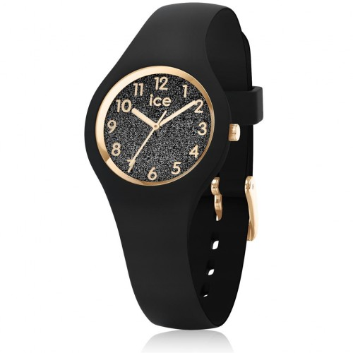 Montre ICE GLITTER BLACK NUMBERS extra small 015347
