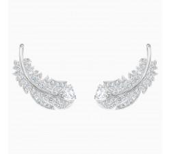 Boucles d'oreilles clous Nice, blanc, Métal rhodié SWAROVSKI 5482912