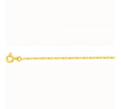 Chaîne alternée 1+1 or jaune 750/1000 by Stauffer