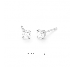Boucles d'oreilles or jaune 750/1000 et diamants by Stauffer