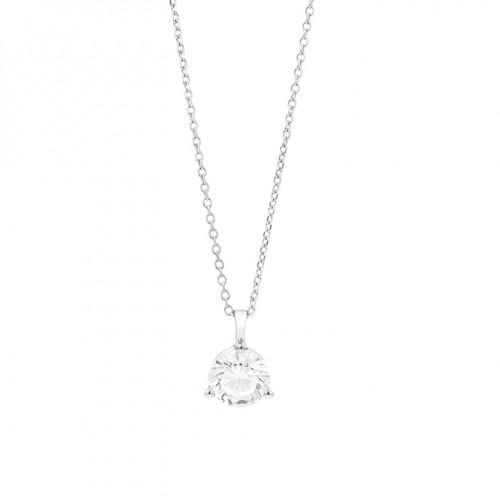 Collier or gris 750/1000 et diamants 0,30 carat by Stauffer