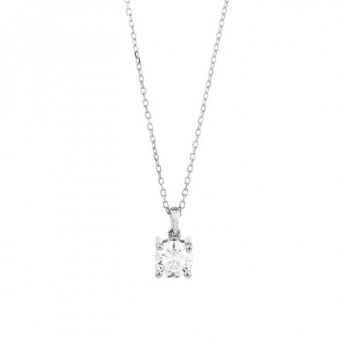 Collier or gris 750/1000 et diamants 0,40 carat by Stauffer