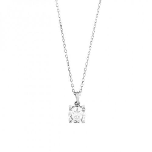 Collier or gris 750/1000 et diamants 0,50 carat by Stauffer
