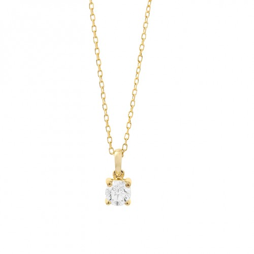 Collier or jaune 750/1000 et diamants 0,20 carat by Stauffer