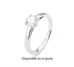 Bague or jaune 750/1000 et diamant 0,20 carat by Stauffer